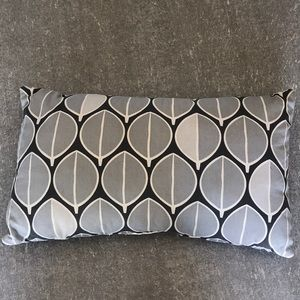 Gray leaf pillow. 20 x 11 inches. Great condition